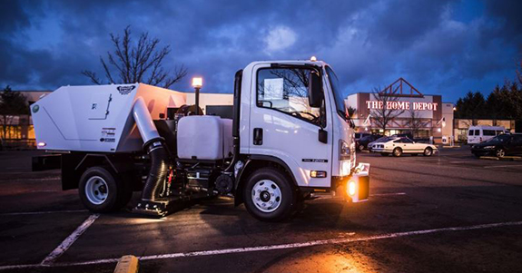 TECH Construction's street sweeper